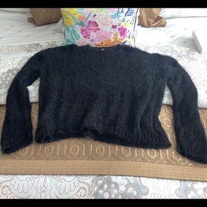 Free People Fuzzy Alpaca Blend Sweater